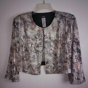 MSK Women's 16W Plus Size Crop Blazer